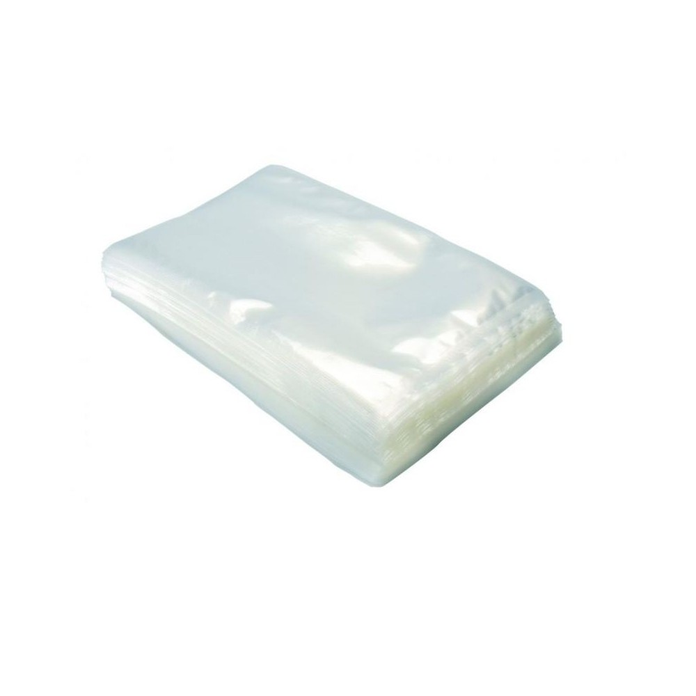 100 Sacchetti 25x45 Buste per Sottovuoto Goffrati per Alimenti 100 micron