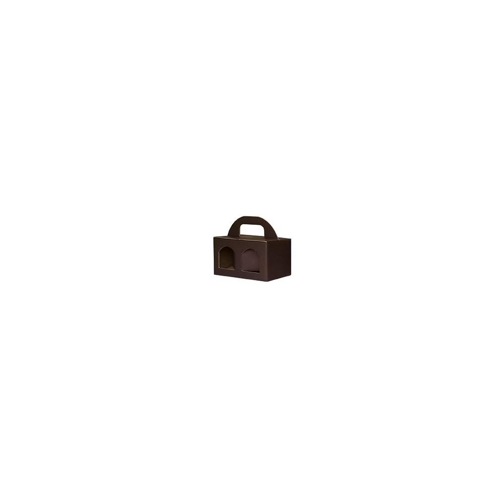 Cestello Porta Vasetti - per 2 Vasetti 20pz MARRONE
