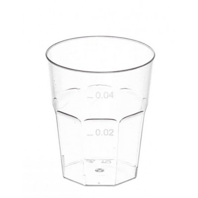 Bicchiere Ottagonale 50cc in PS ESSE - 50pz